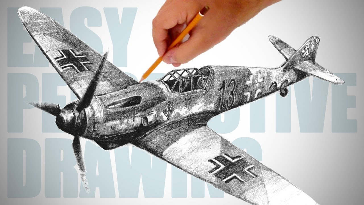 1280x720 How To Draw Ww2 Aircraft (Messerschmitt Bf 109)