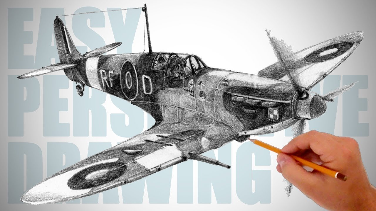 1280x720 How To Draw Ww2 Aircraft (Spitfire)