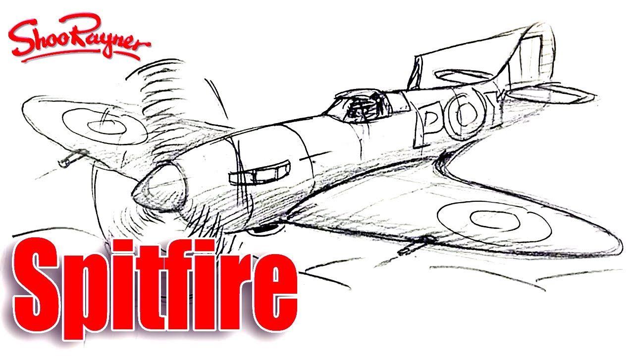 1280x720 How To Draw A Ww2 Spitfire