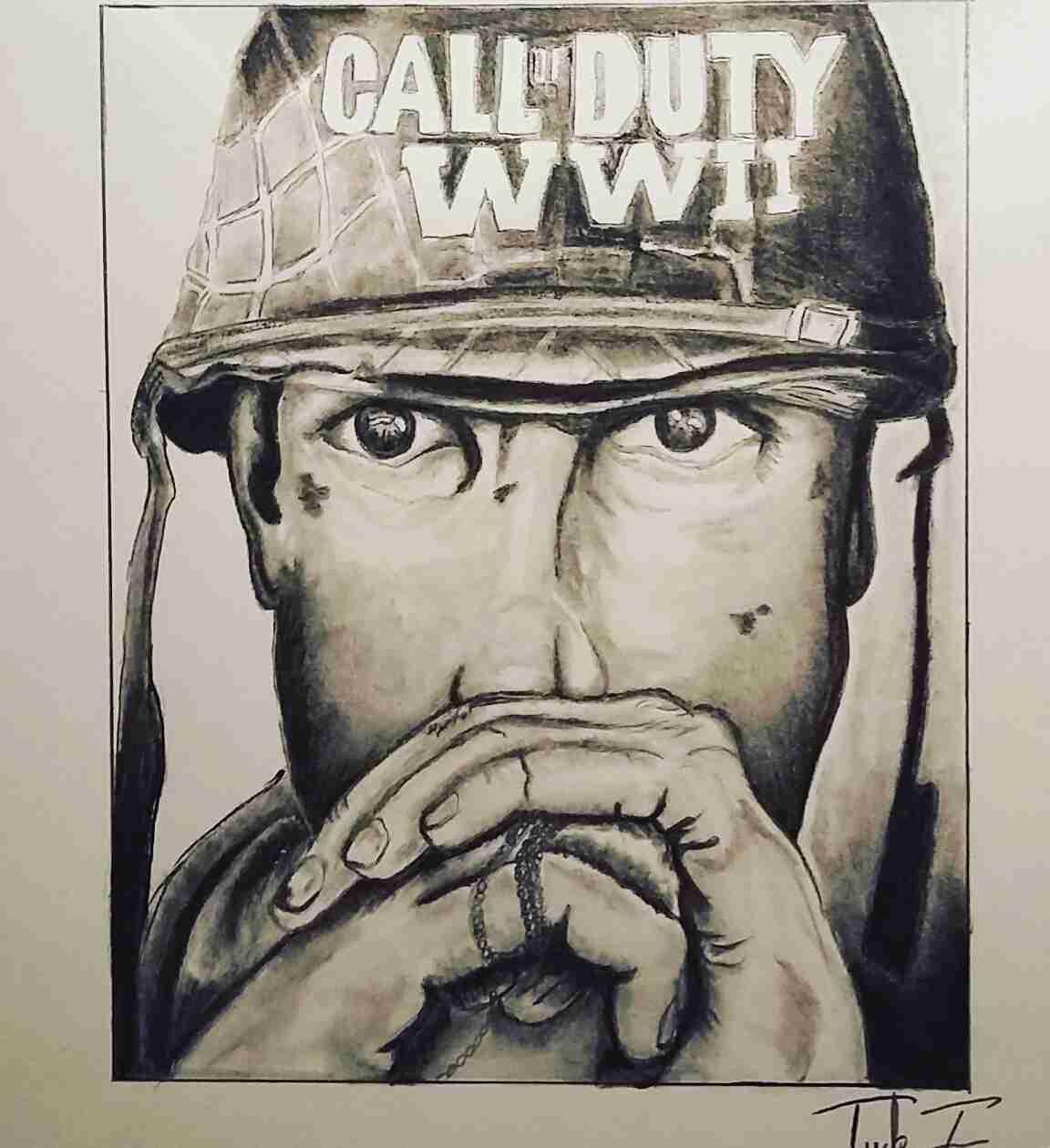1152x1259 Call Of Duty Ww2 Speed Drawing Youtube Best Drawings Olegratiy