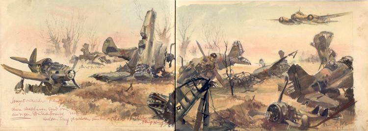 750x267 World War Ii Sketches By Hans Liska