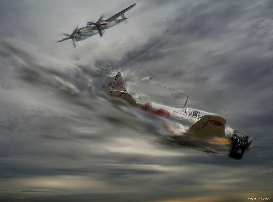946x700 Drawing War Battle Art Planes Ww2 War Military Wallpaper