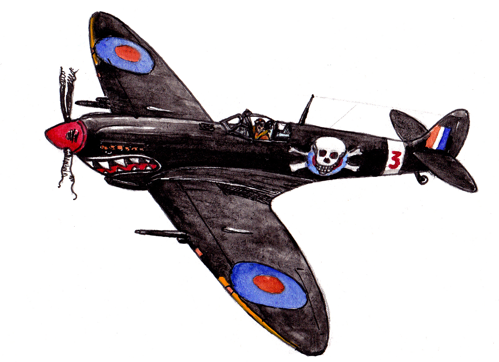 The Aircraft Was Built In 1943 And Deployed To 129 Squadron Based Hornchurch