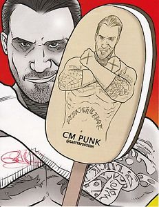 231x300 Cm Punk Drawing Print Signed By Artist New 8x10 Wwe Ufc Ice Cream