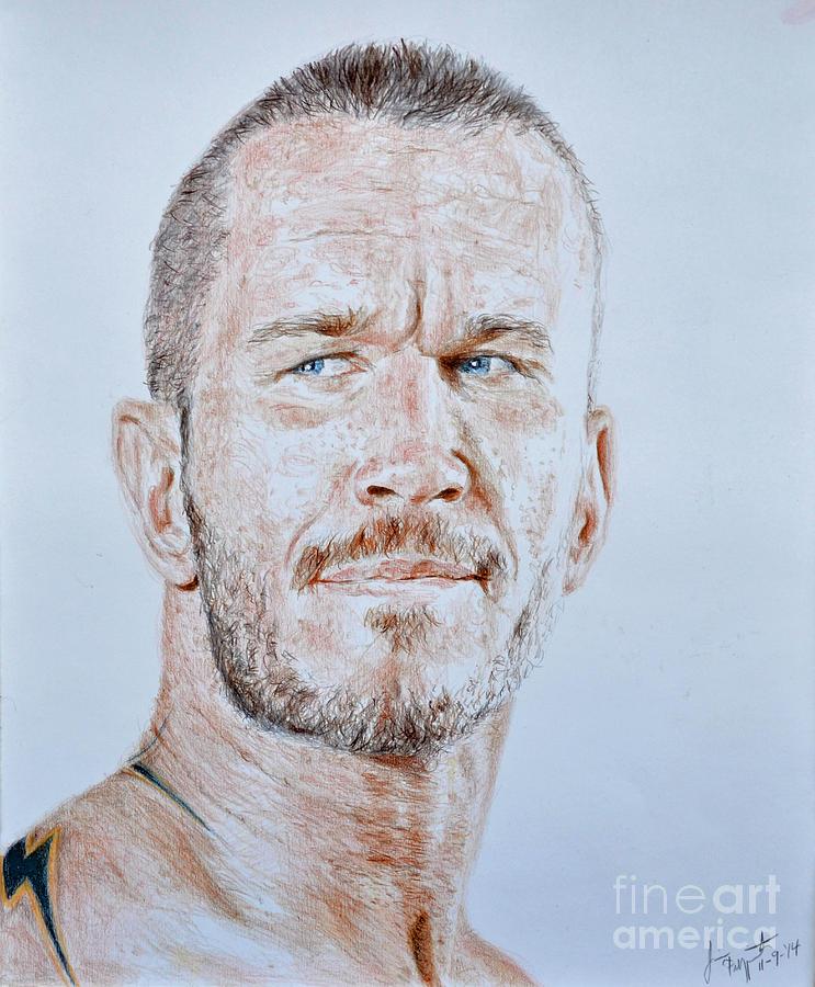 743x900 Pro Wrestling Legend Randy Orton Drawing By Jim Fitzpatrick