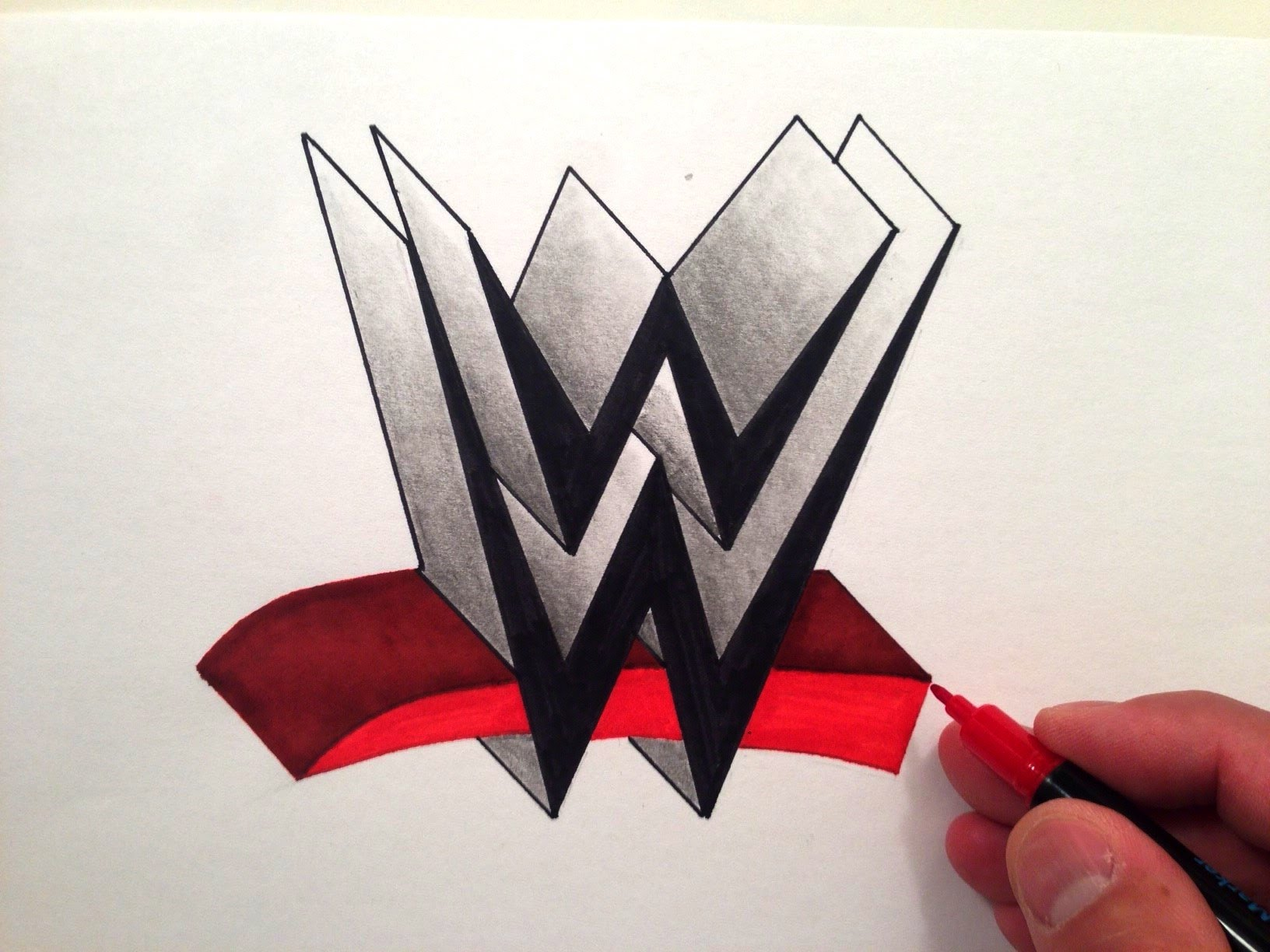 Wwe Logo Drawing at GetDrawings.com | Free for personal use Wwe Logo ...