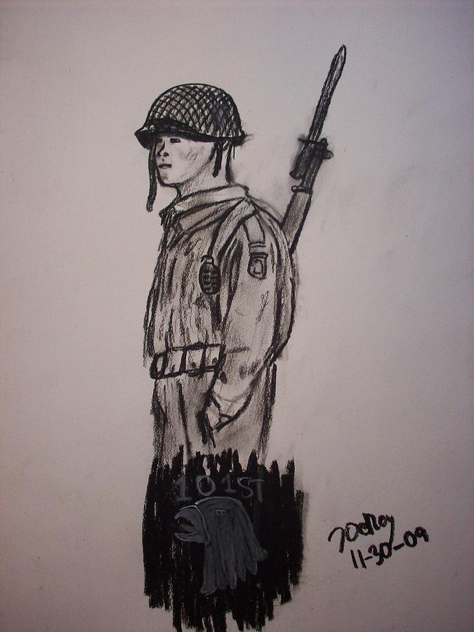 675x900 101st Airborne Wwii Drawing By John Deroy