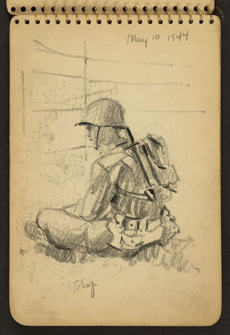 770x1121 Sketches Of Wwii Made By A 21 Year Old Soldier Serving In The Conflict