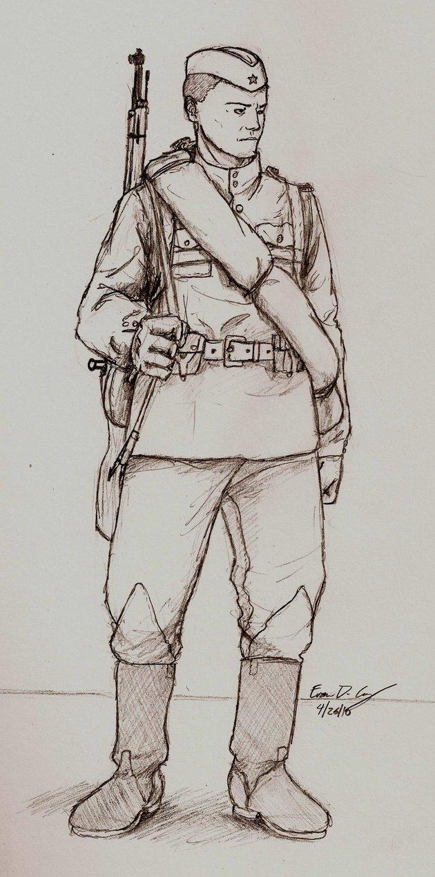 630x1268 Wwii Russian Soldier By Warman707.jpg War