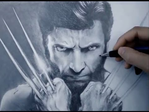 480x360 Amazing X Men Wolverine Speed Drawing Hugh Jackman