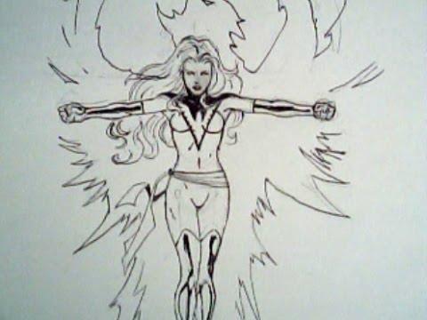480x360 How To Draw Phoenix From Xmen (Marvel Comics)