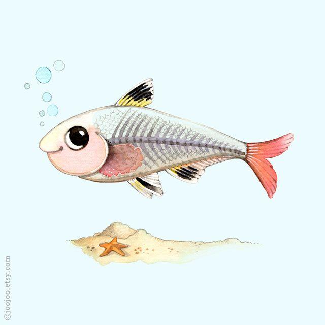 640x640 Alphabet Animals X Ray Fish Drawing Joojoo(Afsaneh Tajvidi