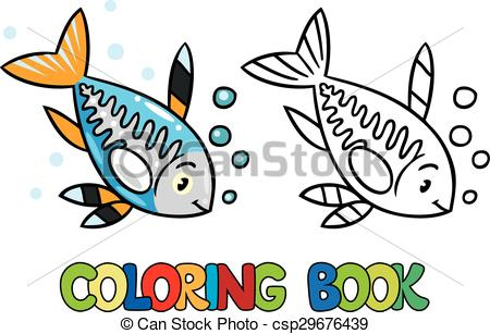 450x307 X Ray Fish Coloring Book. Coloring Picture Or Coloring Book