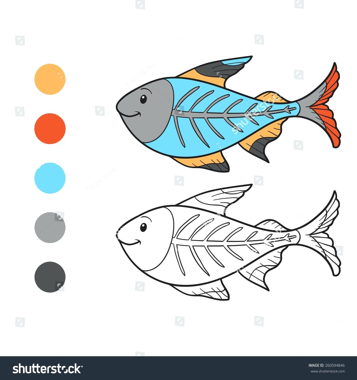 1500x1600 Coloring X Ray Fish Coloring Page Image For Your Line Drawings