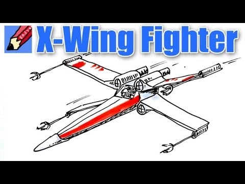 480x360 Another One For My Kids!! Draw A Star Wars X Wing Fighter Real
