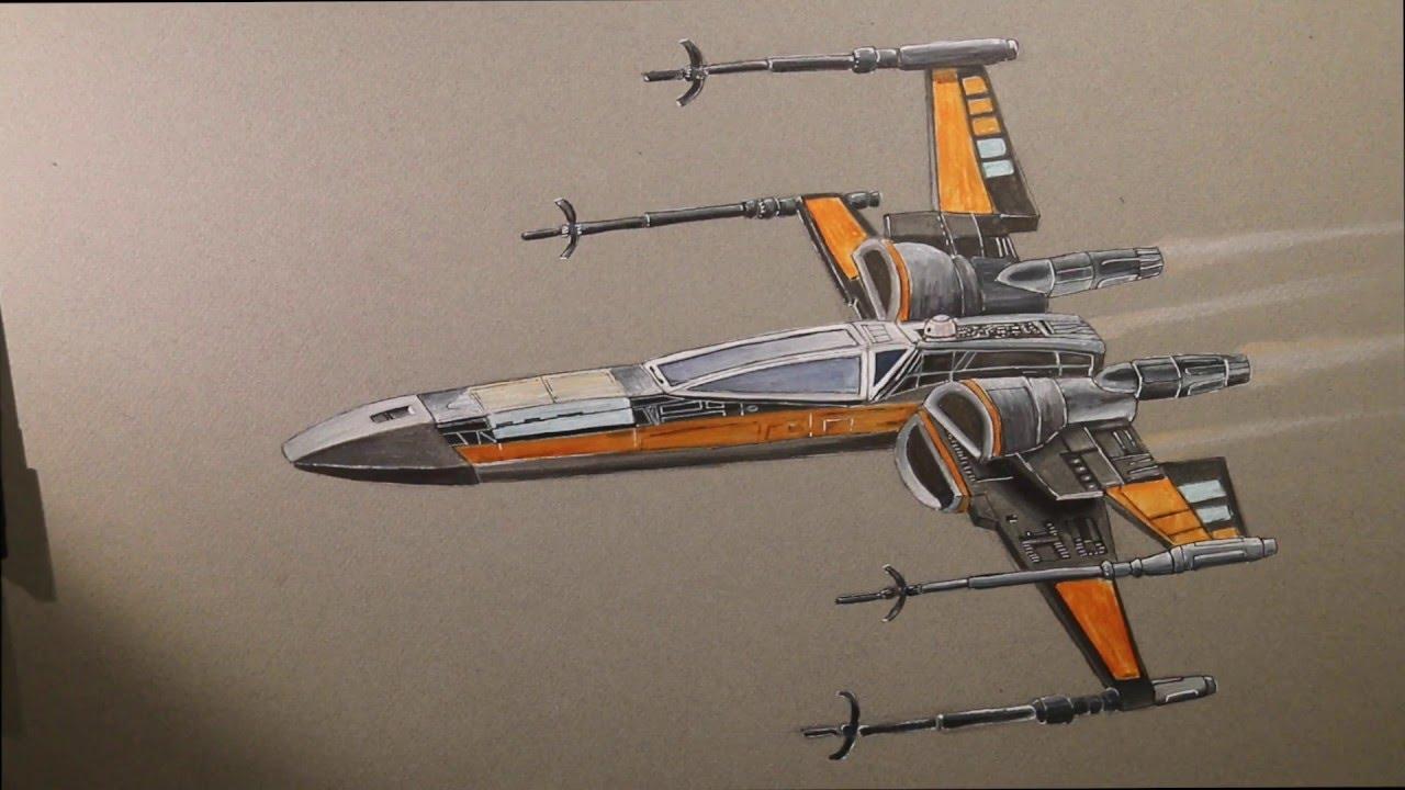 1280x720 Drawing An X Wing Star Wars