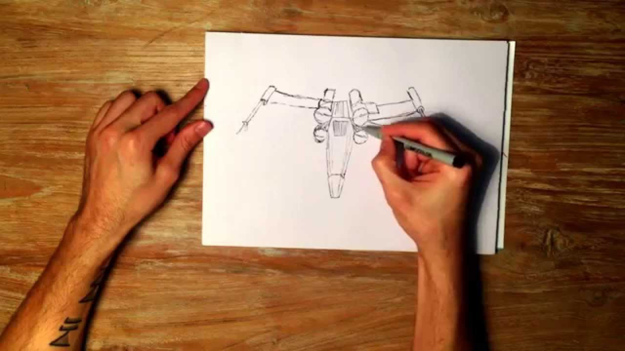 1280x720 How To Draw An X Wing