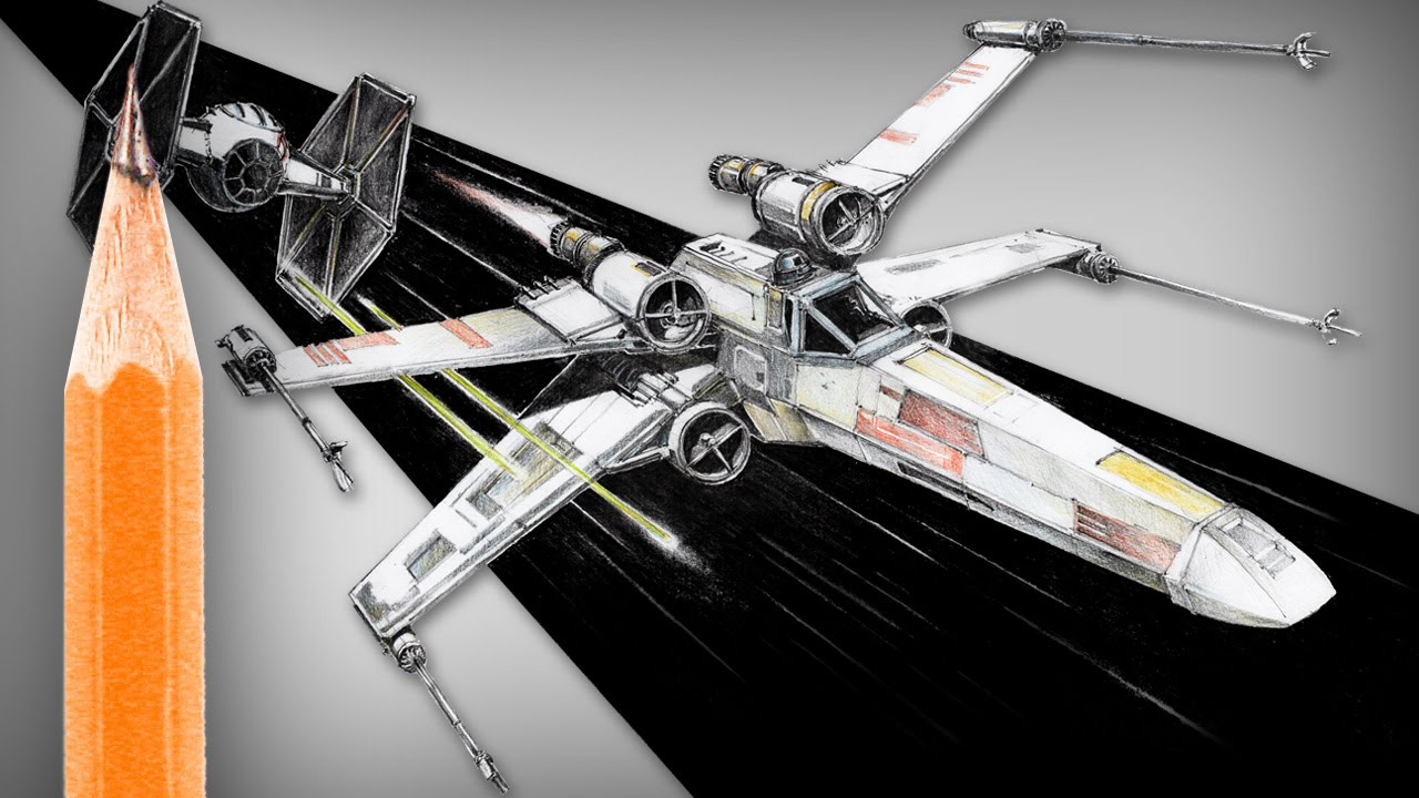 1280x720 How To Draw Star Wars X Wing (And Tie Fighter)