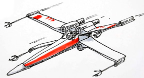 288x157 How To Draw A Star Wars X Wing Fighter Shoo Rayner Author