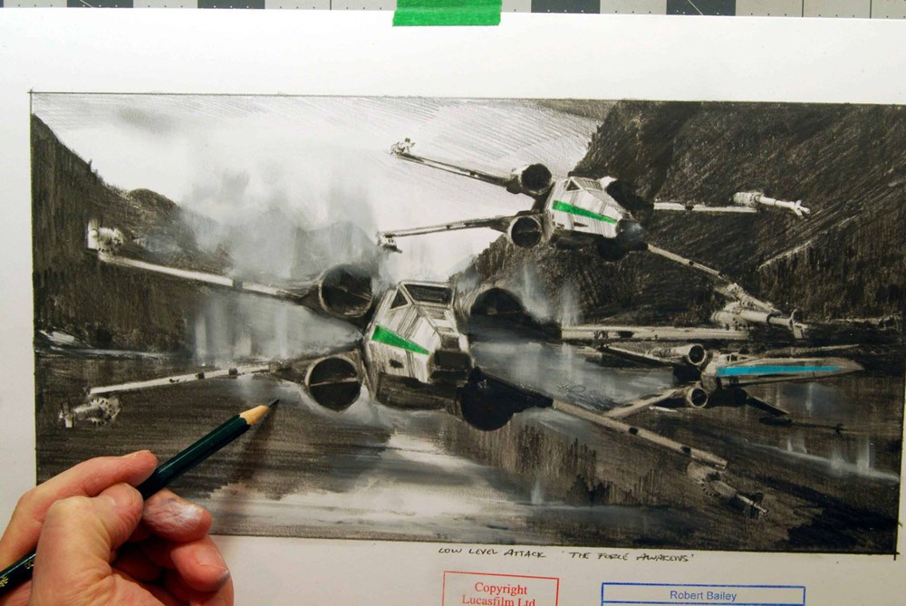 1000x669 Making Star Wars 3 X Wing Fighter Sketches From Official Disney