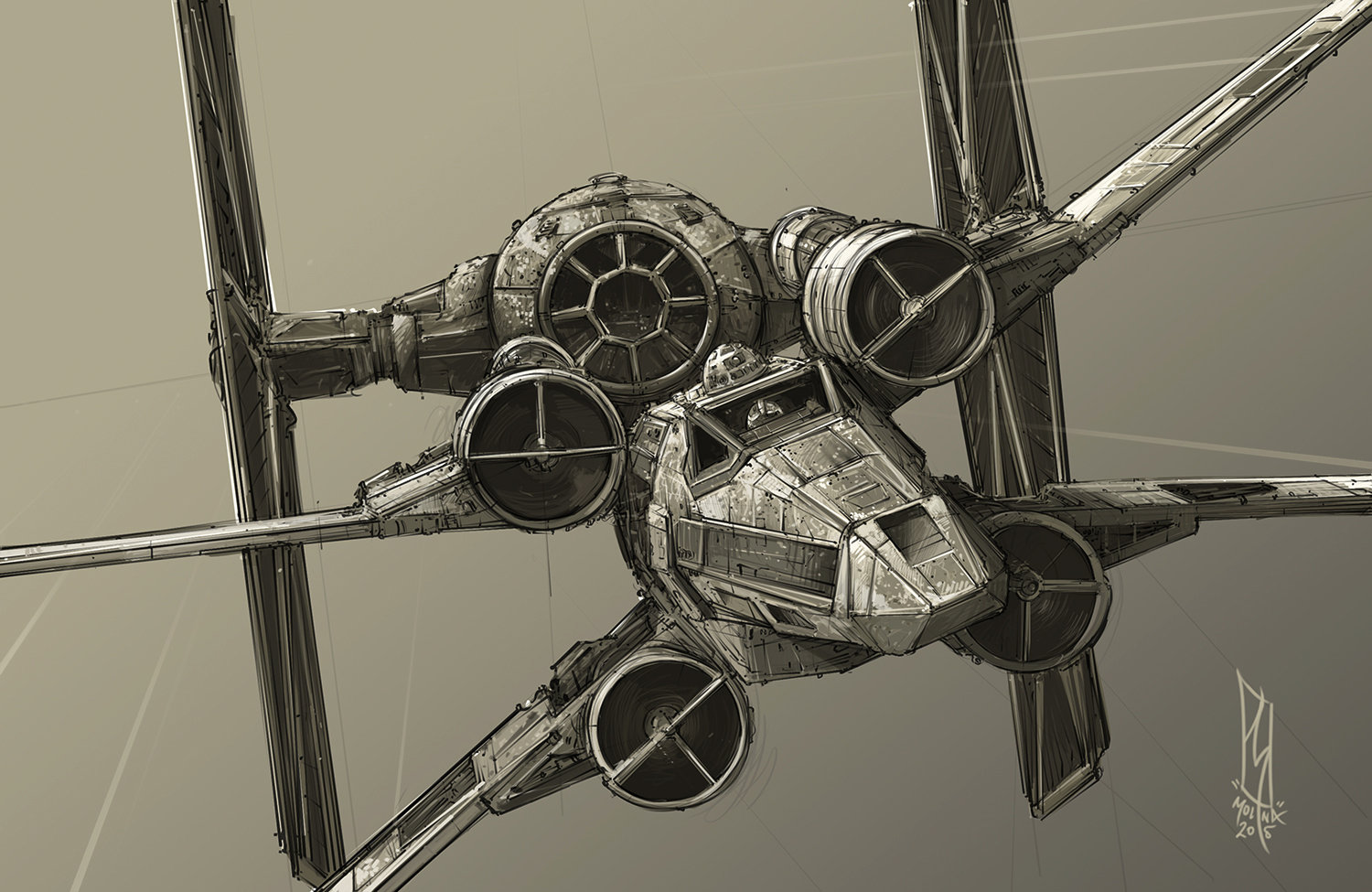 1500x975 Star Wars Imperial Tie Fighter Vs T 65 Incom X Wing By Shane