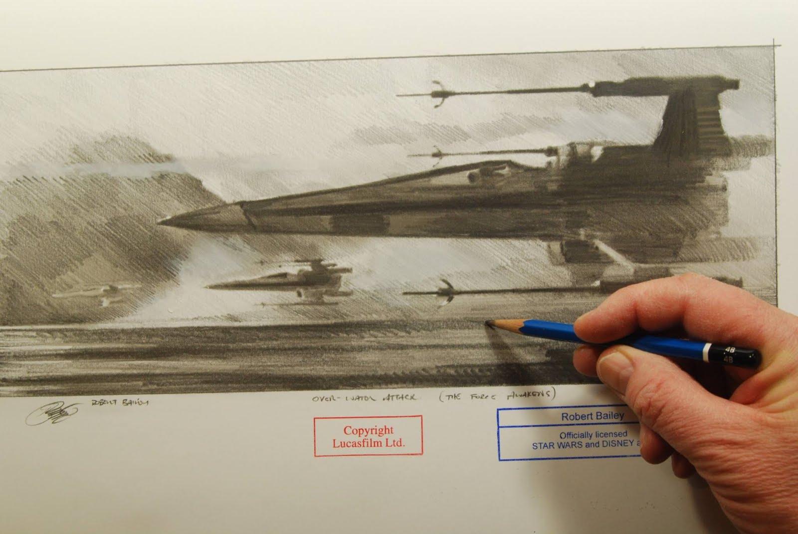 1600x1071 X Wing Sketch Handverker
