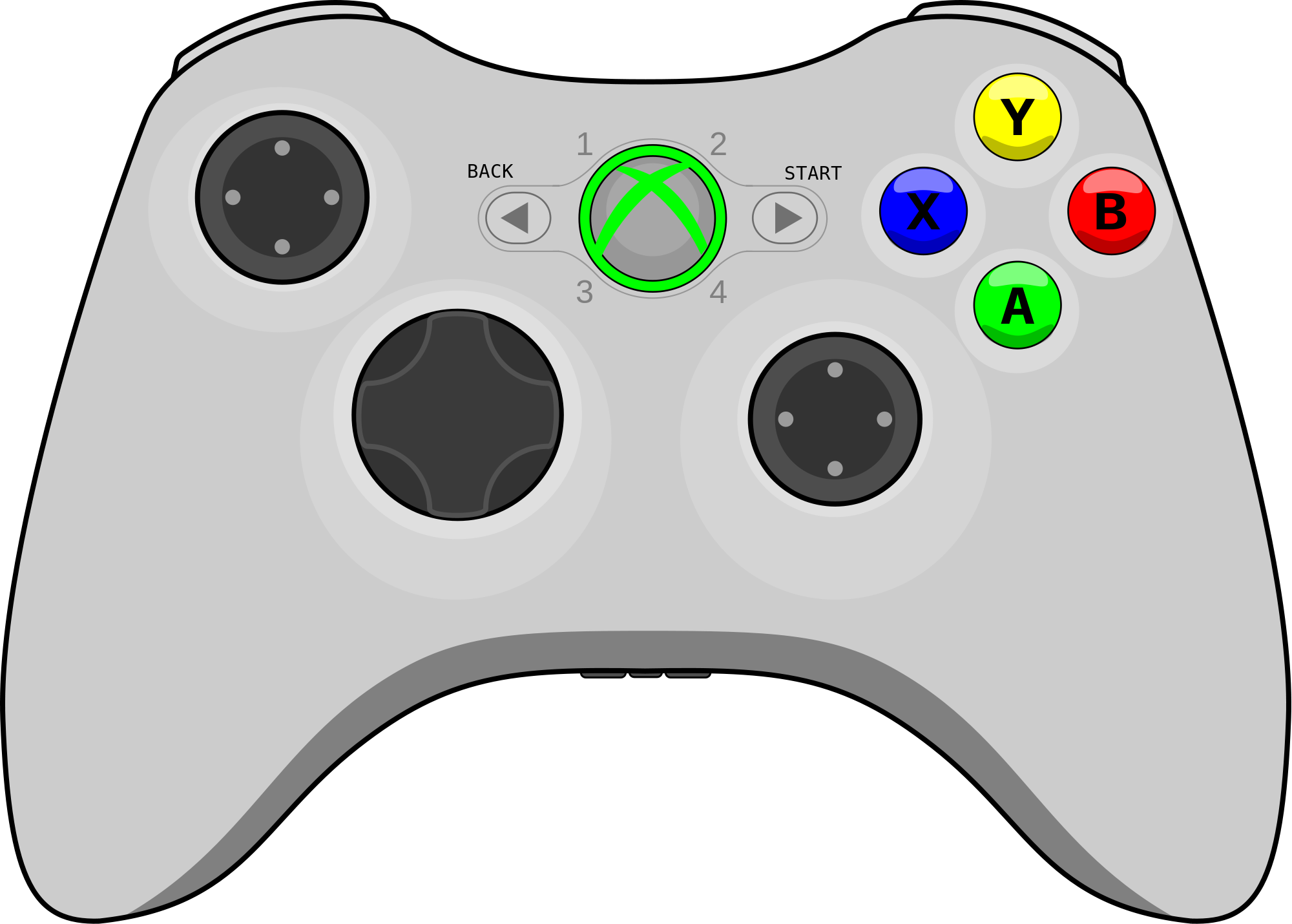 Xbox 360 Controller Drawing at GetDrawings.com | Free for personal ...