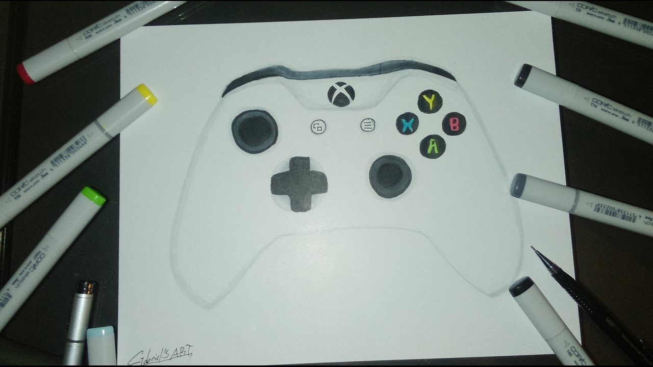 1280x720 Xbox One S Controller Drawing