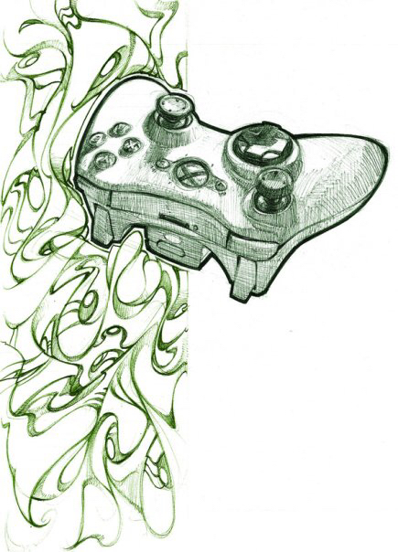 435x604 Cool Xbox 360 Controller Drawing Drawings Xbox 360