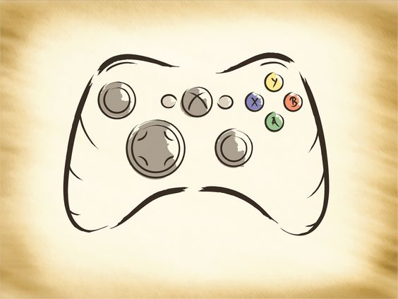 564x423 Video Game Controller Drawing