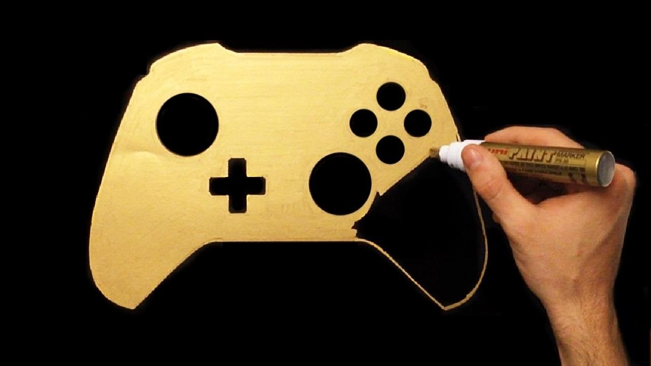1280x720 How To Draw Gold Xbox One Joystick Speed Drawing Draw With Denis