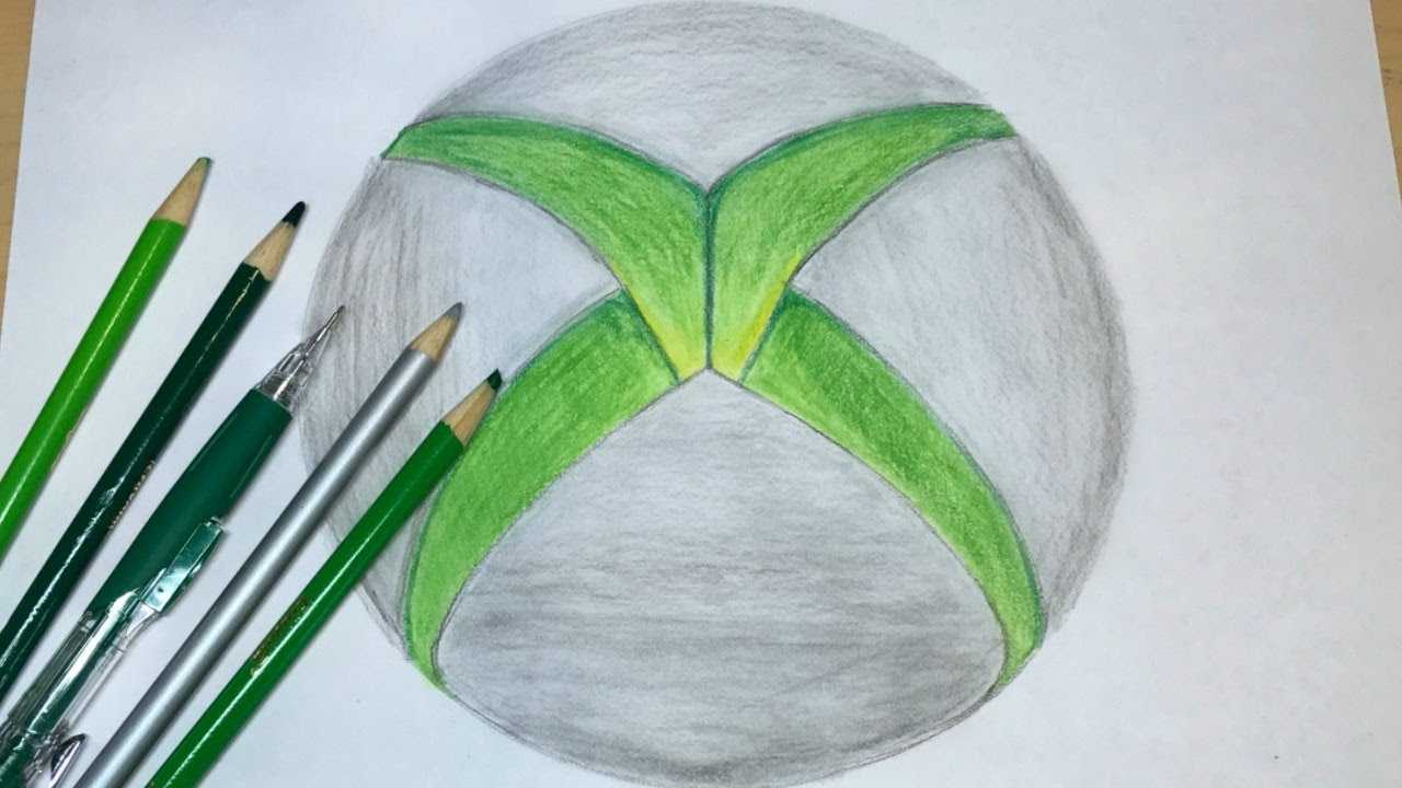 1280x720 How To Draw The Xbox Logo Logo Drawing