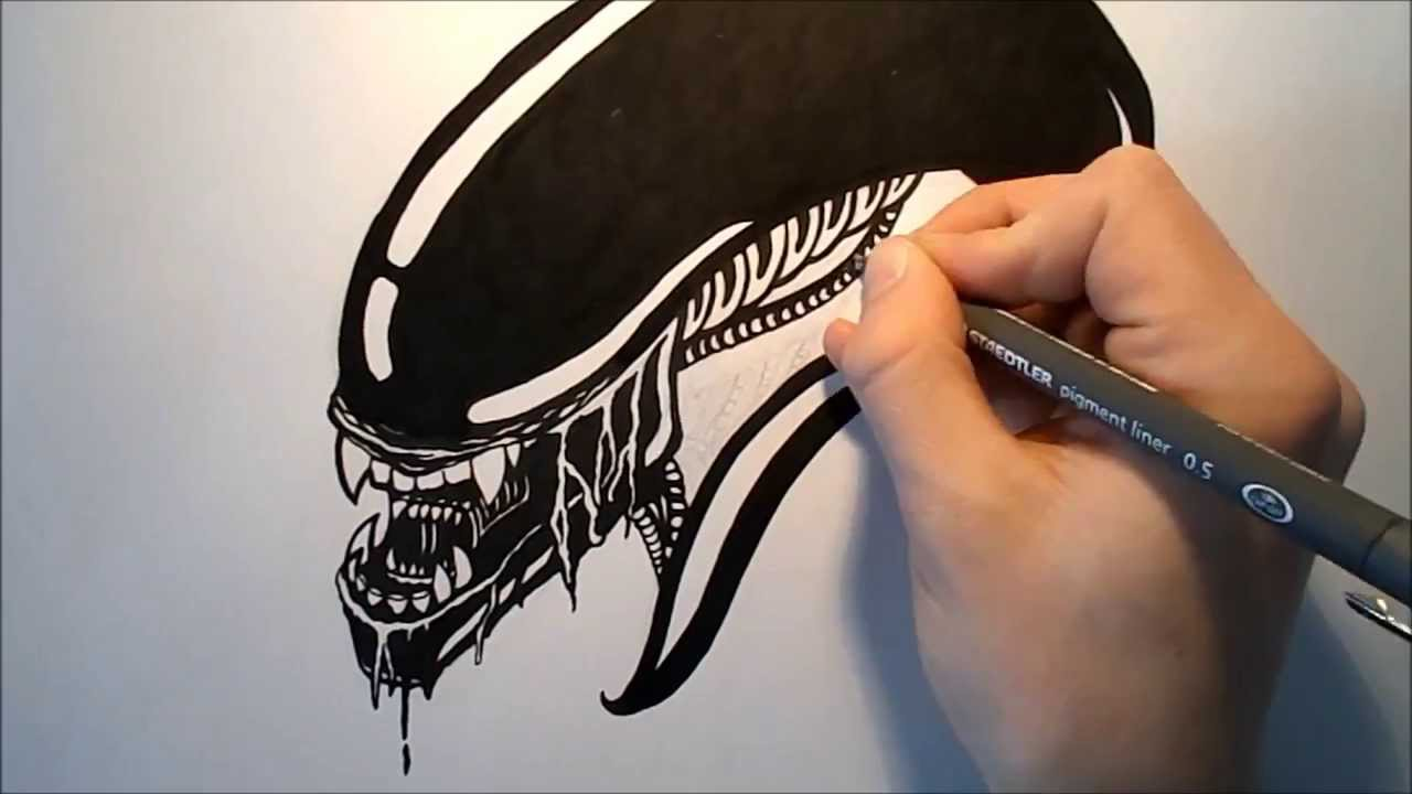 Xenomorph Drawing at GetDrawings com | Free for personal use