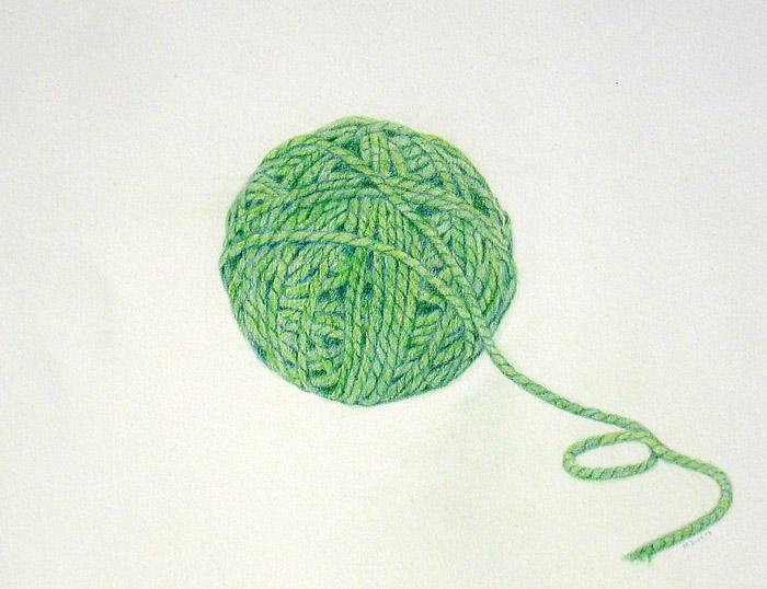 700x538 Ball Of Green Yarn