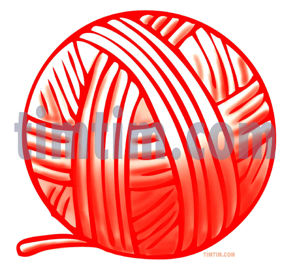 571x531 Free Drawing Of Ball Of Red Yarn From The Category Hobby Amp Sewing
