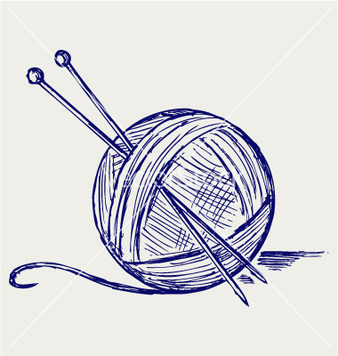 380x400 Yarn Balls With Needles Vector We'Re The Largest Royalty Free