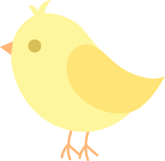 550x537 Cute Yellow Bird Clip Art