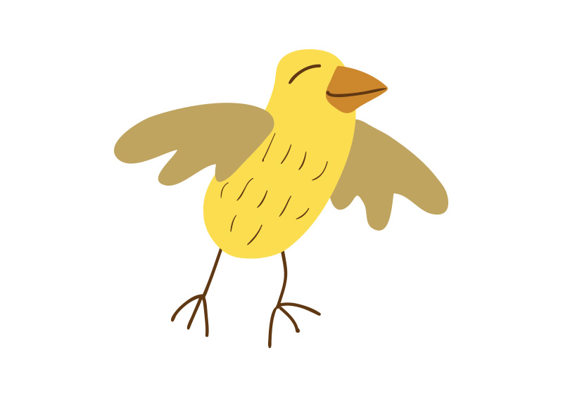 800x566 Little Yellow Bird Vector Drawing