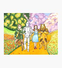 210x230 Yellow Brick Road Drawing Photographic Prints Redbubble