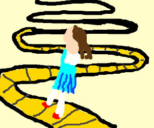 yellow brick road drawing at getdrawings com free for personal use rh getdrawings com yellow brick road clipart free yellow brick road clipart black and white