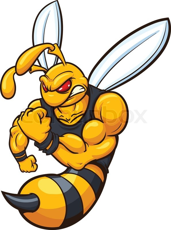 595x800 Yellow Jacket Mascot. Vector Illustration With Simple Gradients