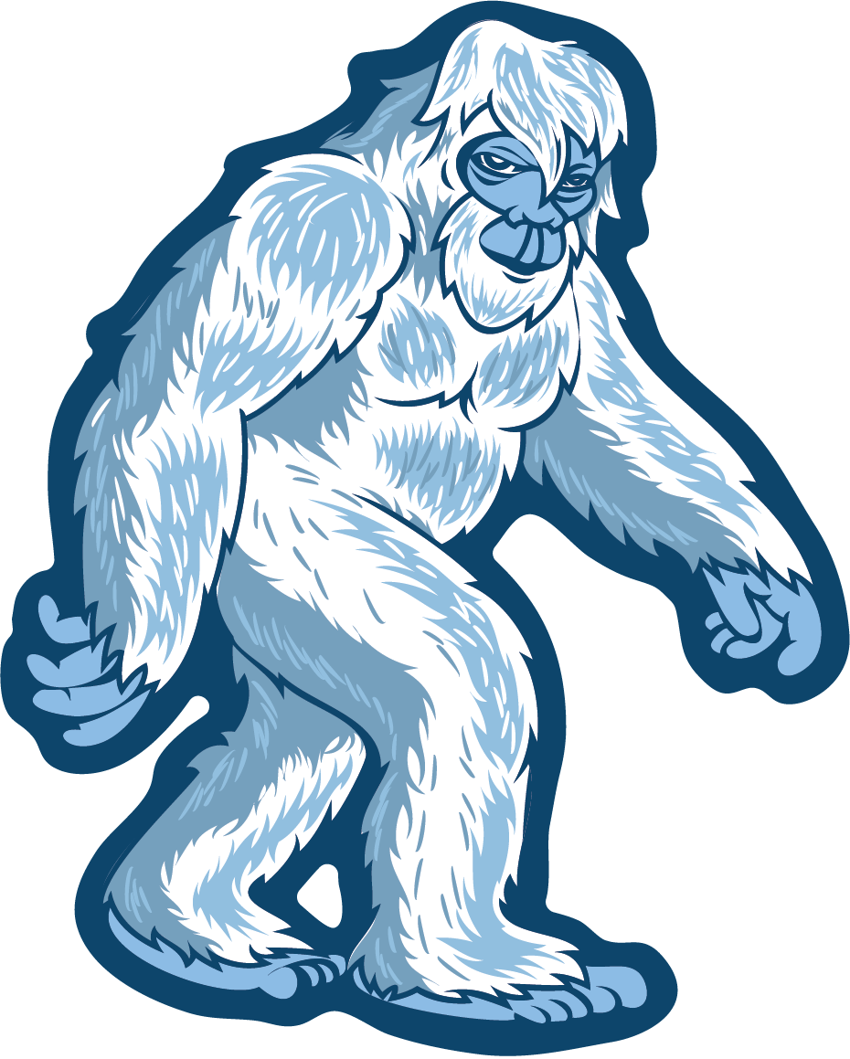 930x1159 Yeti Stroll Sticker,all Weather Premium Vinyl Sticker Sticky Back