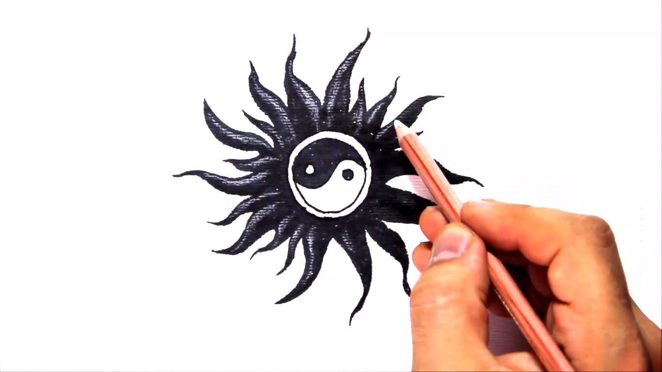 1366x768 How To Draw A Yin Yang