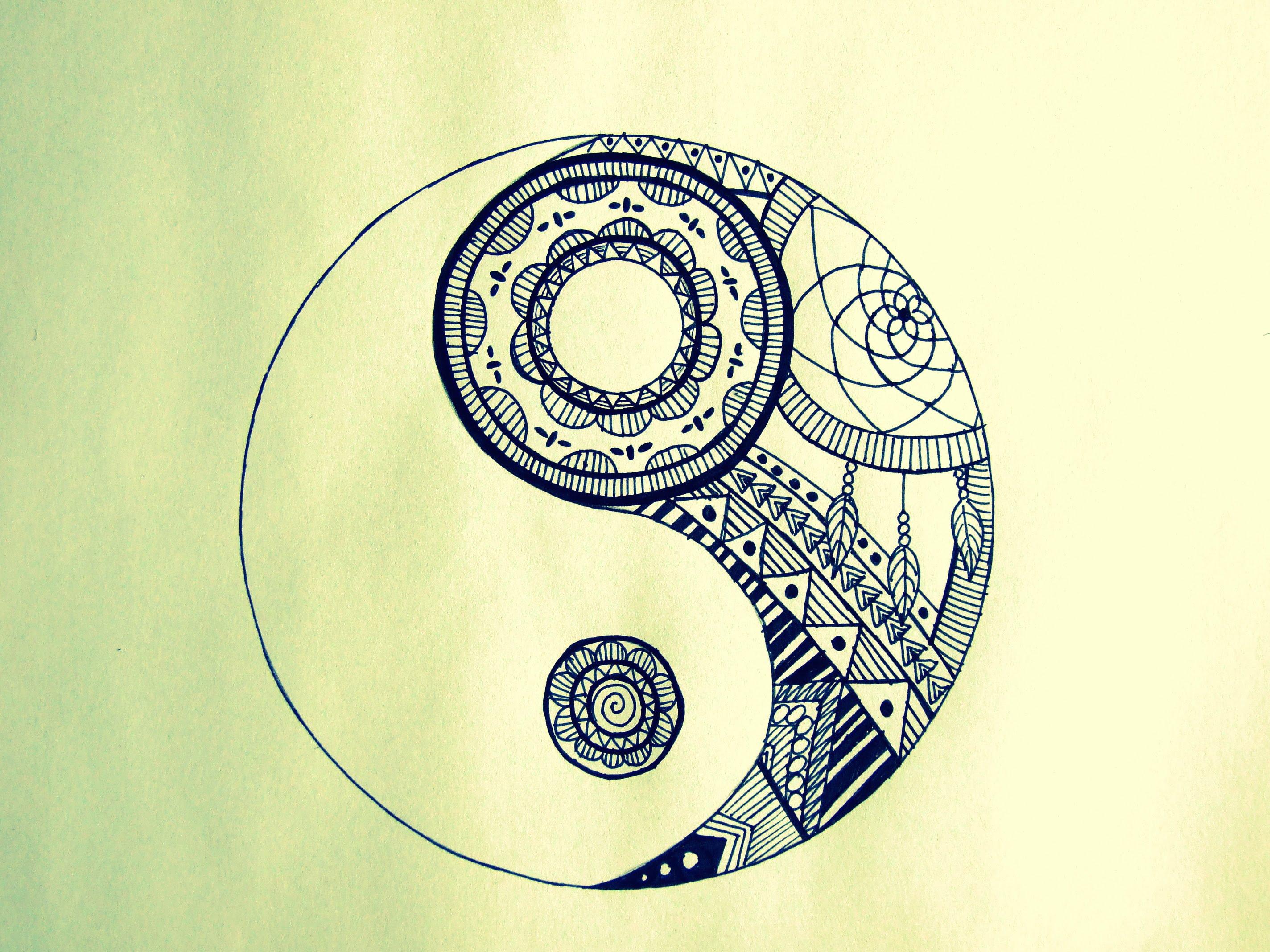 2848x2136 How To Draw Yin Yang (Mandala)