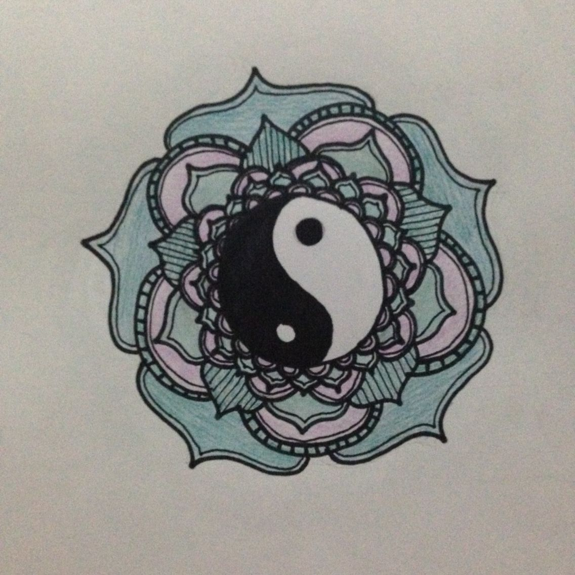 1136x1136 My Drawing. Looking Back On This Drawing, I Realise The Yin Yang