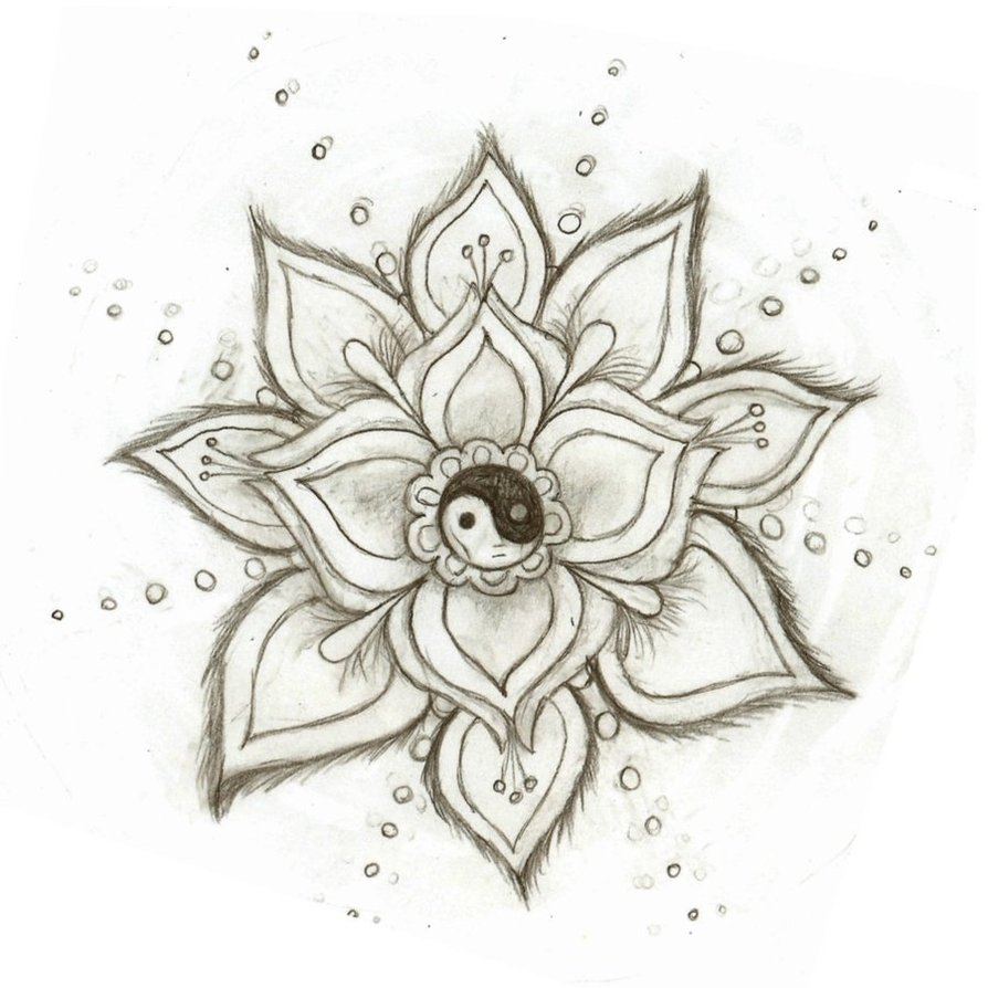 894x894 Pretty Drawings Of Flowers Yin Yang Flowerskysage