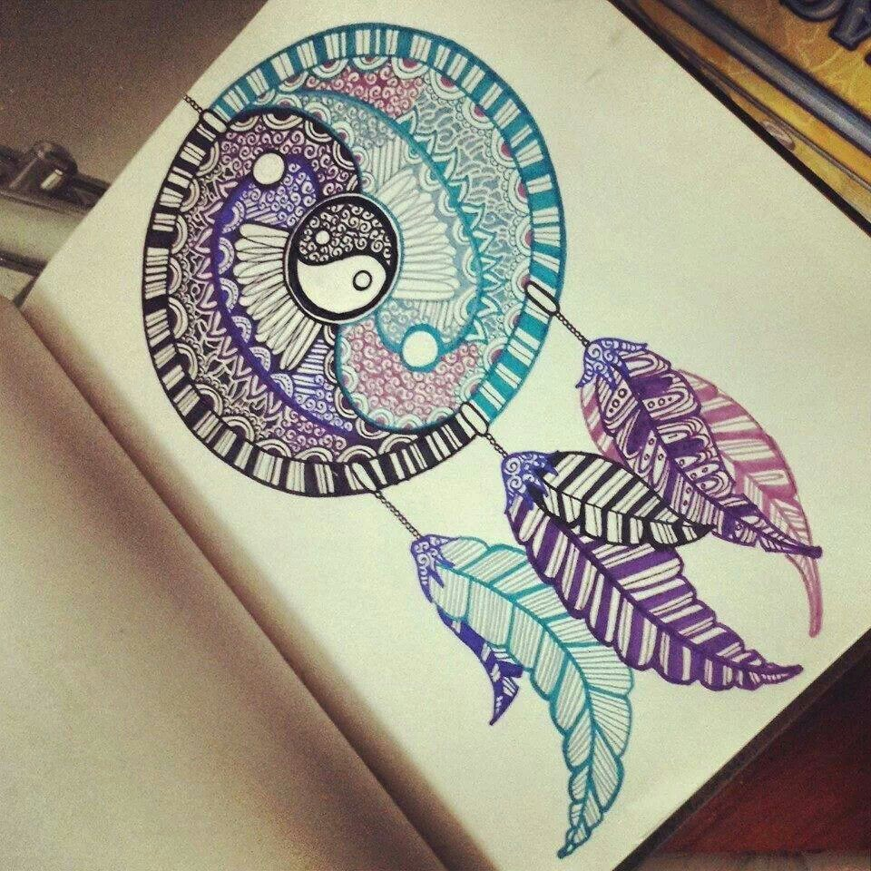 960x960 This Dreamcatcher Drawing Is Amazing, I Don'T Usually Like Felt