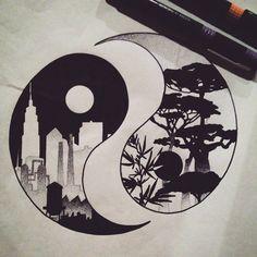236x236 Ying Amp Yang Drawing Inspiration Yang And Ying