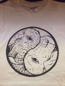 225x300 Yin Yang Elephant T Shirt Clinton Yeager Original Art Design