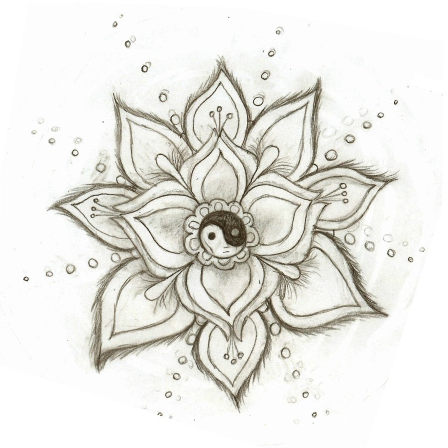 900x900 Yin Yang Flower By On @ Tattoos